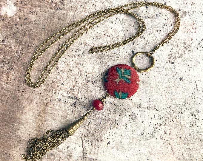 Silk necklace, Tassel necklace, Long boho necklace, Boho chic necklace, Long tassel necklace, Free shipping Canada, Boho chic jewelry, Silk