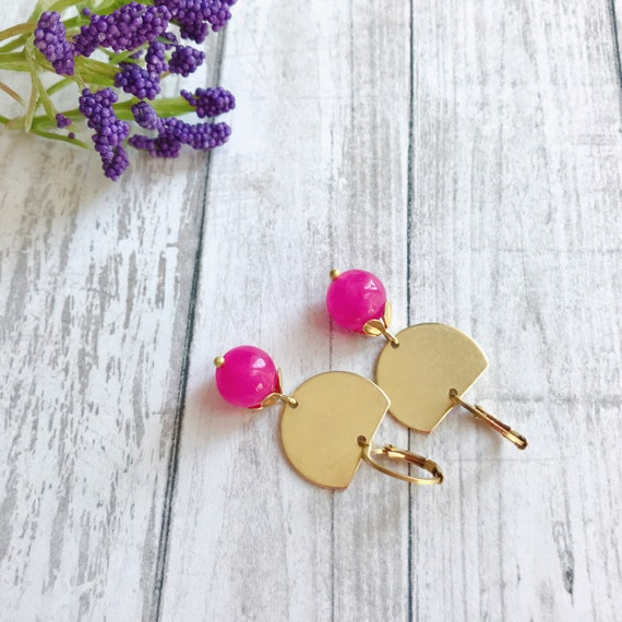 Dangle earrings, Trendy earrings, Pink earrings, Drop earrings, Bridesmaids earrings, Drop Earrings, Summer earrings, Summer jewelry