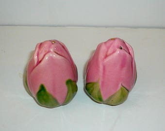 Franciscan Desert Rose China Pink Roses Salt Pepper Shakers California Pottery Handpainted by VintageReinvented