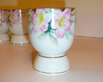 Noritake China Double Egg Cup Azelea  Hand Painted Japan Noritake Vintage China  by VintageReinvented