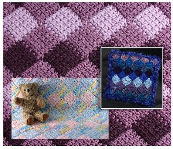 How To Make Easy Tunisian Crochet Entrelac Pattern Pdf Etsy