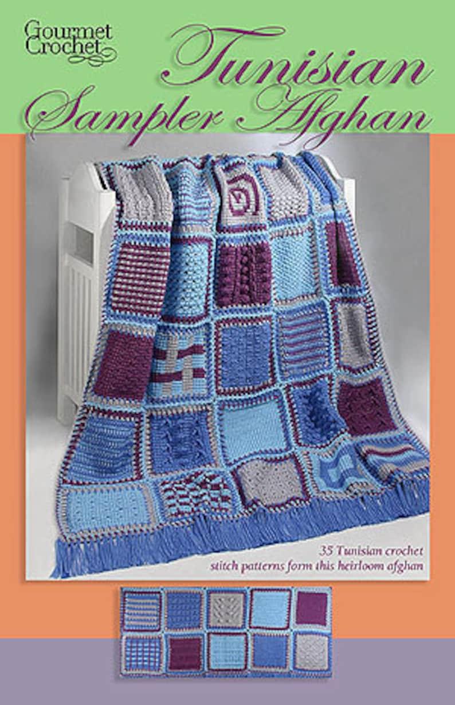 Tunisian Crochet Sampler Afghan Pdf Pattern Etsy