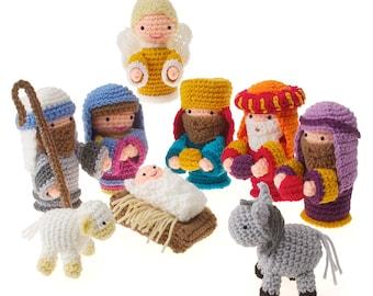 Crochet Amigurumi Christmas Holiday Nativity  pdf Pattern