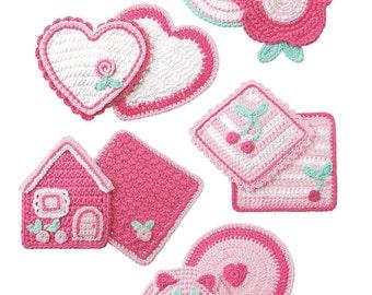 Pink Potholders and Dishcloth Crochet pdf Pattern