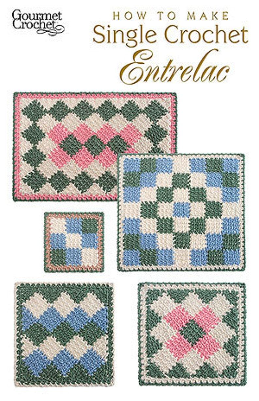 How To Make Single Crochet Entrelac Crochet Pattern Pdf Etsy