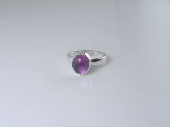 Adjustable Ring Purple Statement Ring Oval Ring Cocktail Ring Purple Stone Ring Purple Agate Ring Purple Ring Gemstone Ring