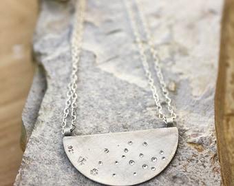 Brilliant Shine Necklace in Raw Silver Ready to Ship