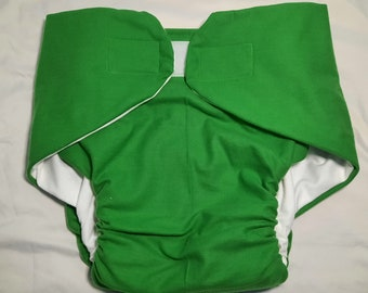 Adult Diaper - Kelly Green - Size 3