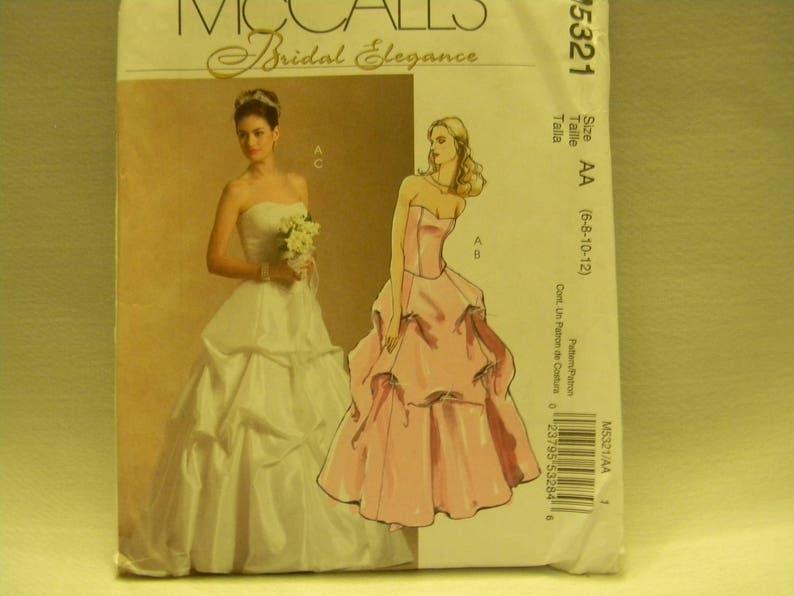 6913c0fb5c Uncut McCall s Pattern 5321 Bridal Elegance Wedding Gown
