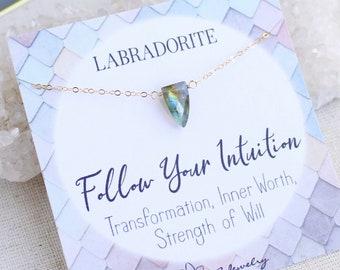 Labradorite necklace for women, labradorite pendant necklace, labradorite point necklace, boho jewelry, labradorite necklace, gift for her