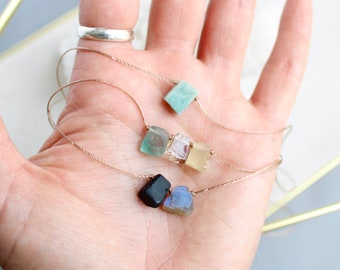 Raw Stone necklace, custom crystal necklace, raw birthstone necklace, raw crystal necklace, unisex necklace, necklaces for men, gift for dad