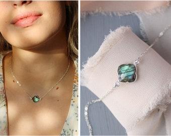 Labradorite orbital apple aura necklace \u00b7 crystal jewellery \u00b7 electroformed crystal necklace \u00b7 copper jewelry \u00b7 raw crystal necklace