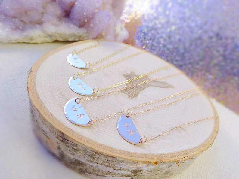 matching friendship necklaces rose gold mother daughter necklace set connecting charms two necklaces Meaningful necklace set to share