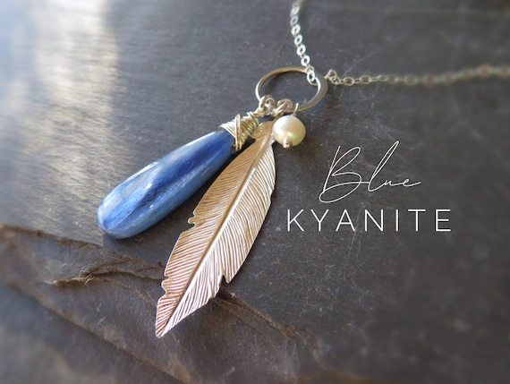 Kyanite Necklace Sterling Silver Handmade Made to Order
