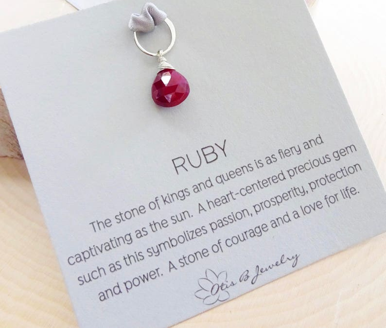 Ruby pendant with clasp or ring, Raw ruby pendant, natural ruby charm, ruby  dangle, add on ruby pendant, july birthstone, interchangeable