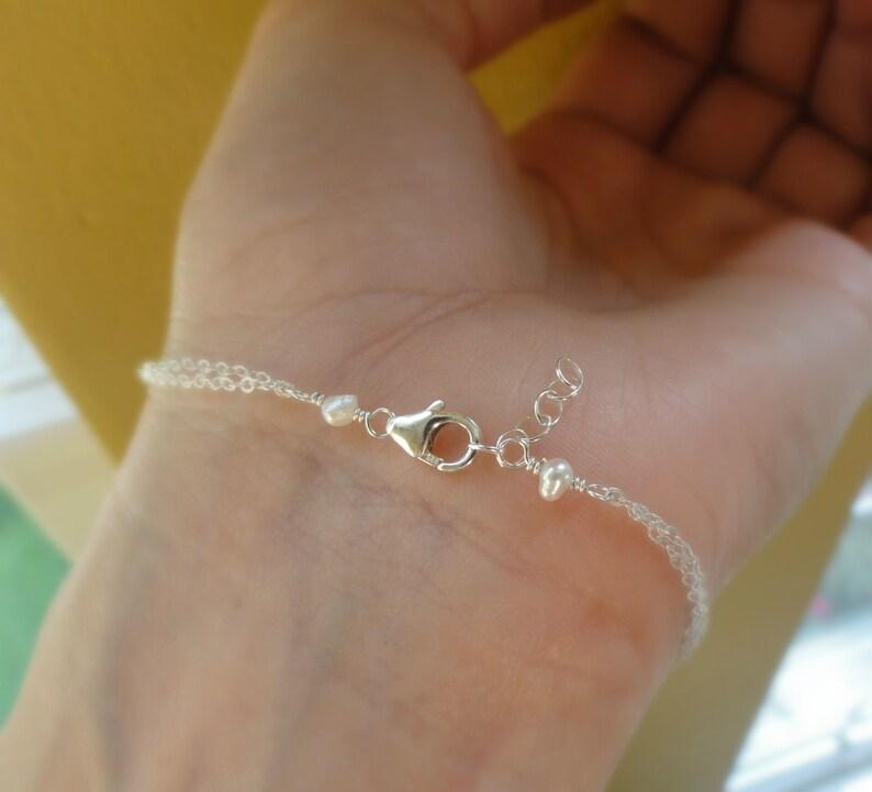 anchor bracelet Anchor charm bracelet sterling silver initial bracelet navy nautical birthstone bracelet Personlized infinity bracelet