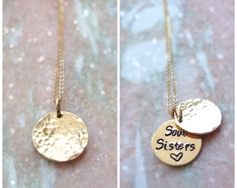 Secret message necklace, Hand stamped customizable quote, saying, phrase, Valentine's Day, clamshell Locket, Otis B, hidden message, pearl