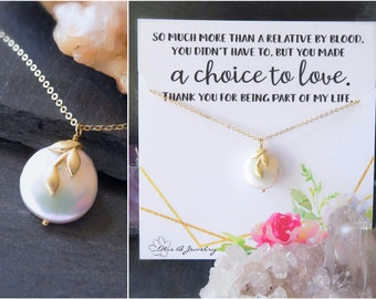 step mom gift, Bonus mom, mother of the groom gift, Stepmother necklace, mother in law gift, bonus mom necklace, pearl necklace for mom