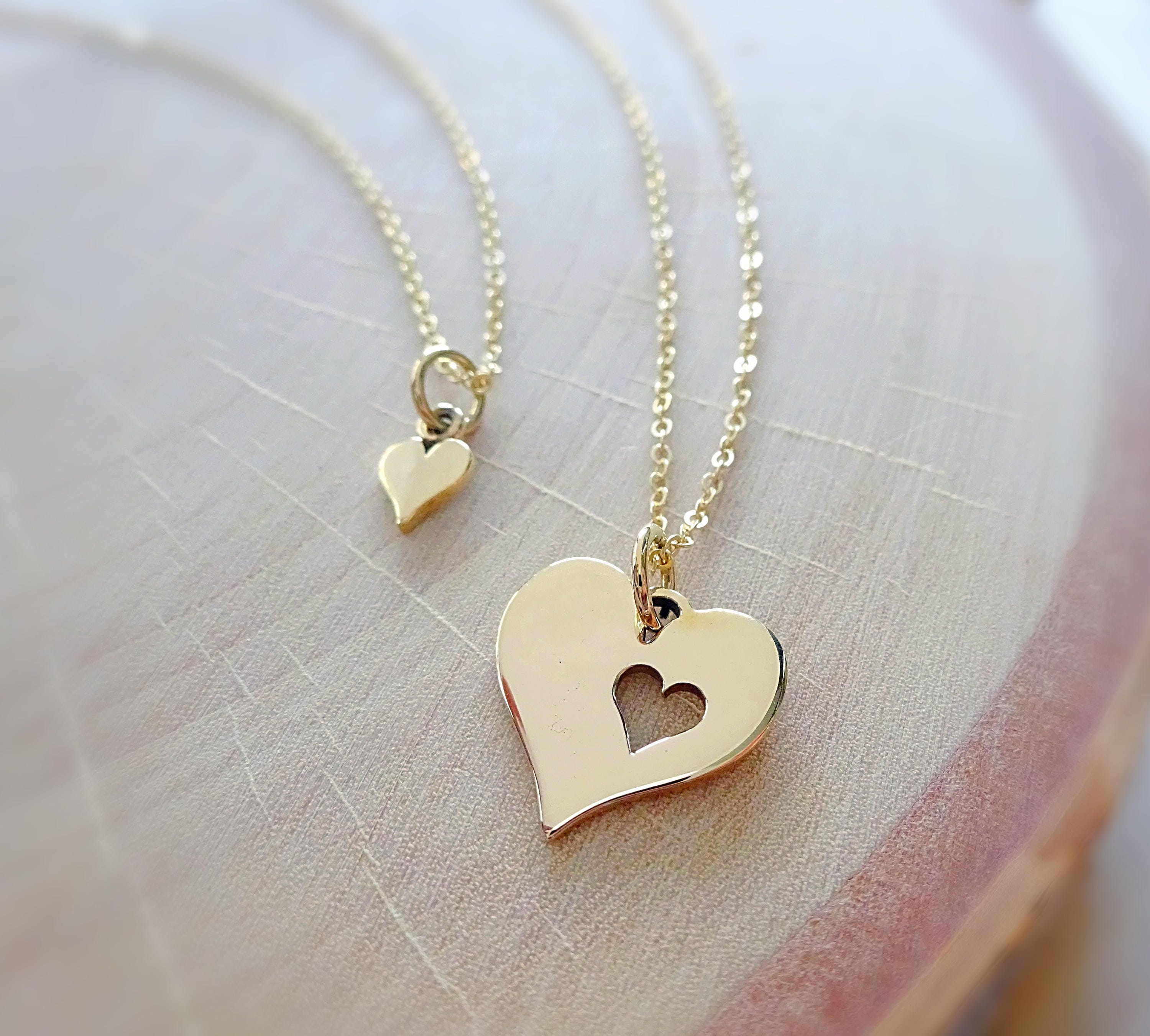 Mothers Day Necklace 14kt Gold Fill Rose Silver Mom Jewelry Mom and Child Necklace Mom of Two Necklace Mother Child Necklace Mom Gift