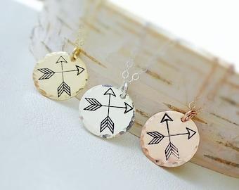 Double Arrow charm necklace, best friends, new direction, boho bohemian, two arrows best friends graduation gift gifts for grads