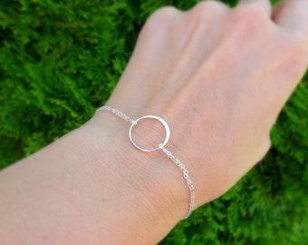 Karma bracelet, silver eternity bracelet, friendship bracelet, minimal delicate silver bracelet, circle bracelet, eternity circle, otis b