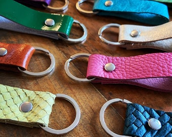 Recycled Leather Key Ring Key Fob Key Chain