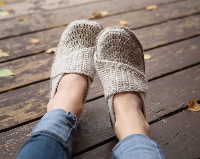Crochet Pattern - Adult Little Wrap Slippers