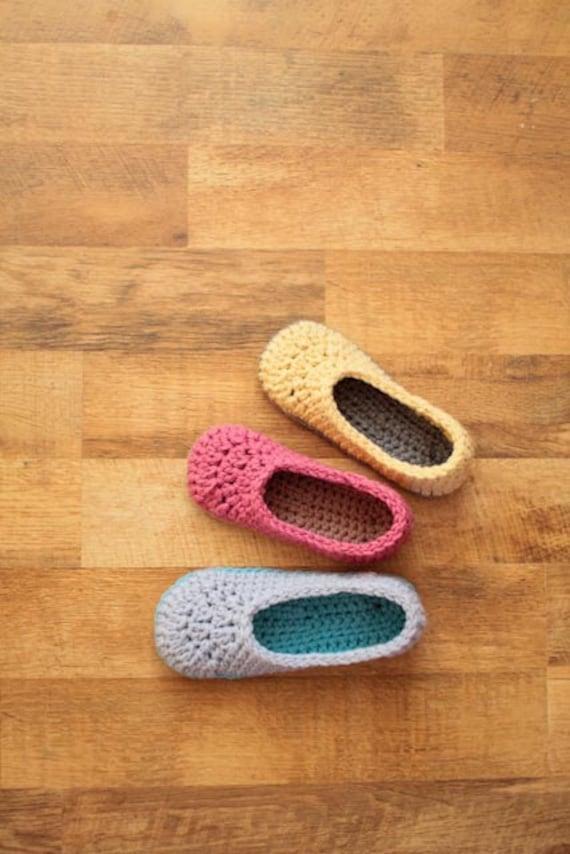 Crochet Slipper Pattern Oma House Slippers Etsy