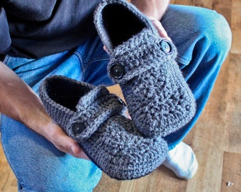 Crochet Pattern - Opa Slippers (Child/Men sizes 1-13)