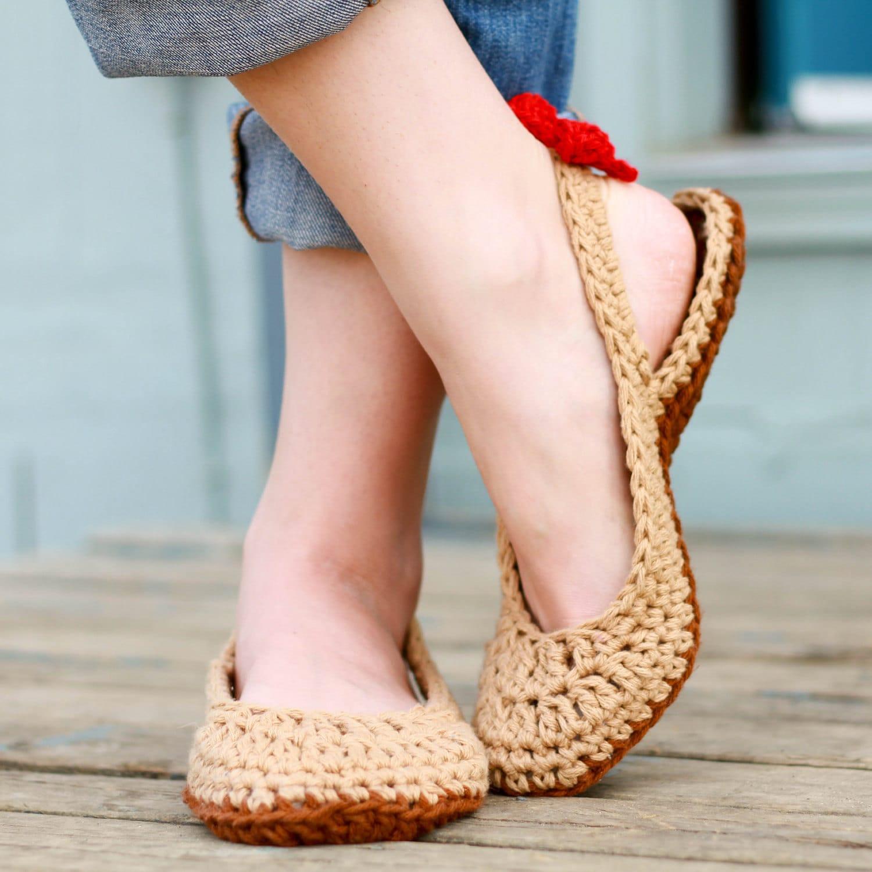 Crochet Slipper Pattern Slingbacks Woman Sizes 3 12 Etsy