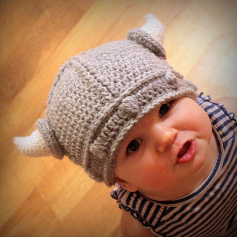 Instant Download  Crochet Pattern  Lael Viking Hat Sizes image 0