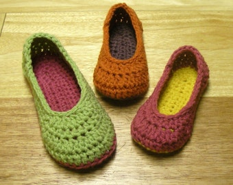 Crochet Pattern - Oma House Slippers - Adult Woman Sizes