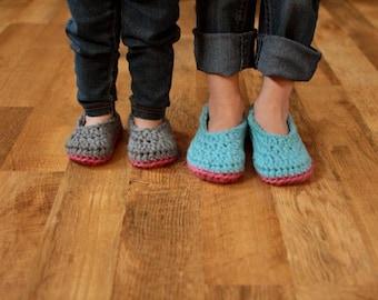 Crochet Slipper Pattern - Baby Booties Child Slippers - Little Oma Slippers