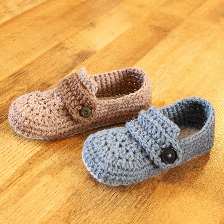 Crochet Mens Slipper Pattern Opa Slippers Childmen Sizes Etsy