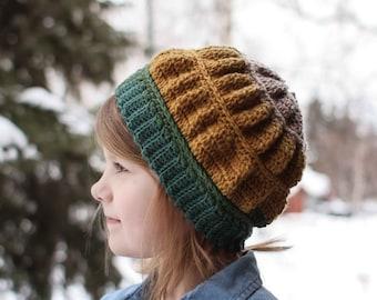 Crochet Hat Pattern - Chanterelle Beanie