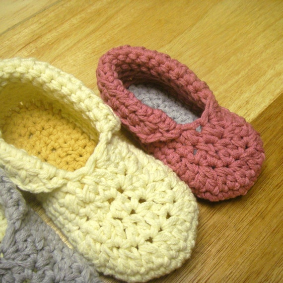 Instant Download Crochet Pattern Toddler Child Slippers From