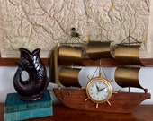 United clock, Cutter ship, pirate ship clock, wall clock, mantle clock, electric clock