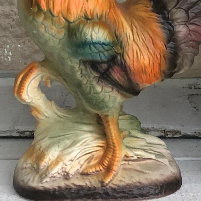 large 9\u201d figurine Norleans Japan rooster vintage farmhouse decor