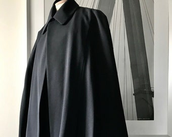 halloween jacket  short sleeved cape wrap cotton poly reworked by NotThatSexy belted avant garde long layered small medium hooded Object