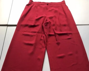 vintage palazzo pants Moschino red