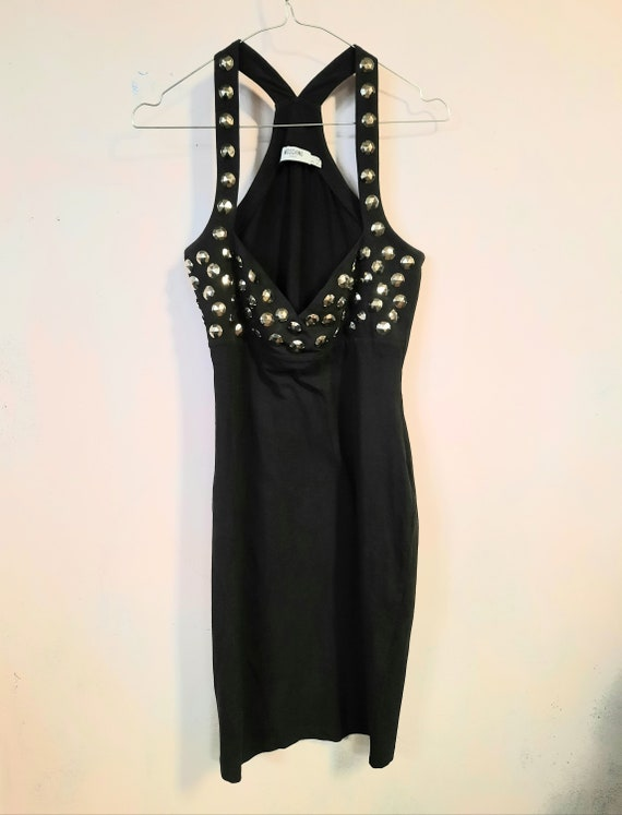 Moschino vintage dress stretch bustier studs