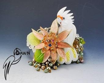 Goffin Cockatoo Designer Cuff Bracelet