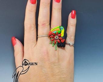 Keel Bill Toucan Bird Ring
