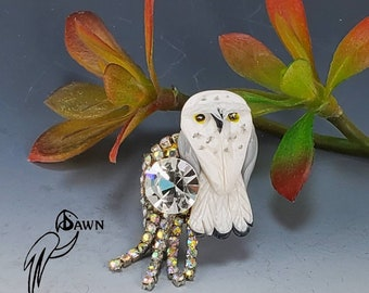 Snow Owl Ring