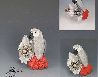 Congo African Grey Parrot Ring