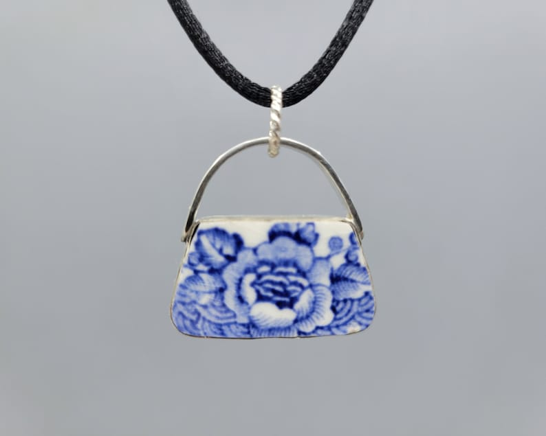Blue and White China and Sterling Pocketbook image 0