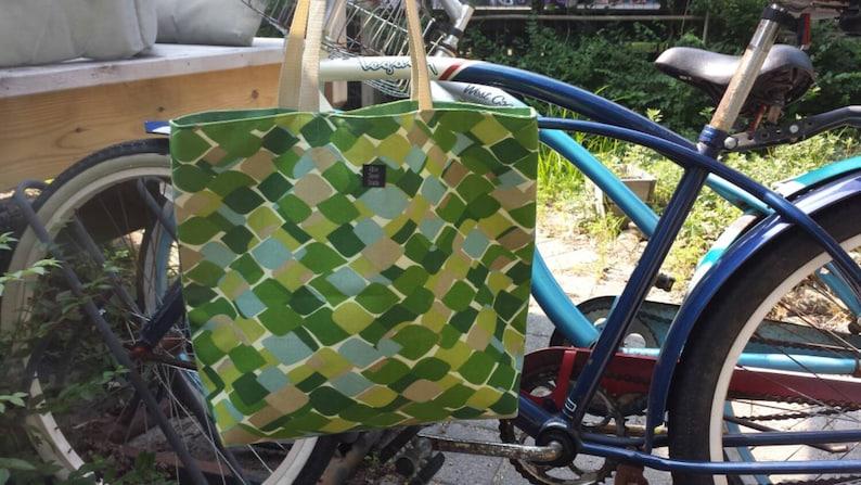 Beach bag Large green tote leaf Sunbrella fabric HGTV designs green tote gift