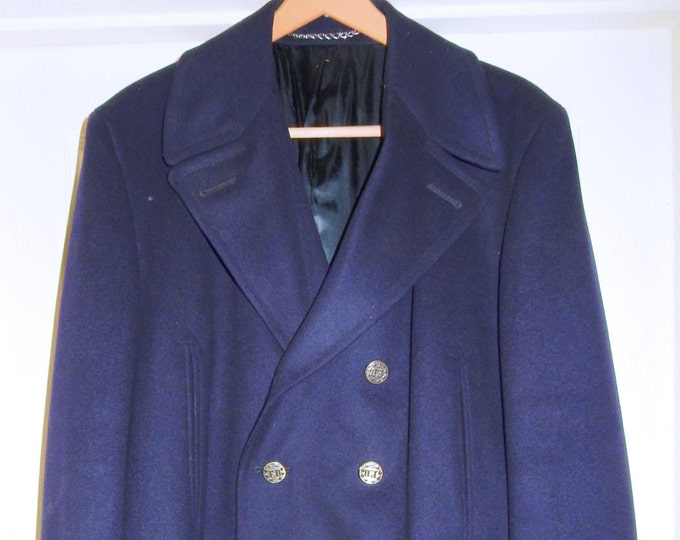 1960s Wool Fireman's Dress Jacket Large XL Tall Long Uniform PRISTINE Like NEW Firefighter A Jacobs and Sons