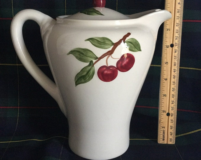 Orchard Ware Pottery RARE Cherry Coffee Pot Calfornia Ceramics MINT CONDITION