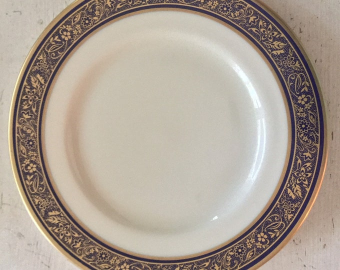 Lenox Barclay Fine China Dinner Plate Dinnerware Blue Gold